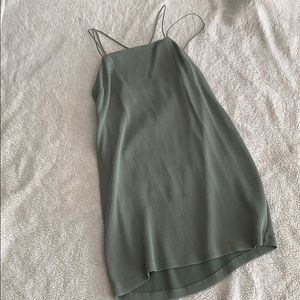 H&M army green dress